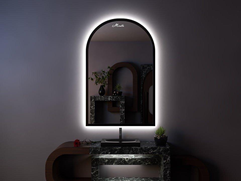 Арочное зеркало с подсветкой Dorian Extra