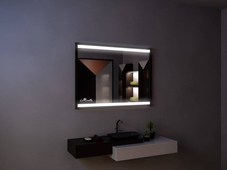 Зеркало с подсветкой в раме Alonzo