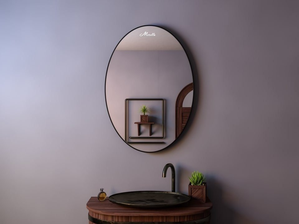 Зеркало в тонкой раме Silvia