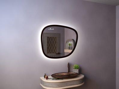 Эксклюзивное зеркало с подсветкой необычной формы Scale Extra