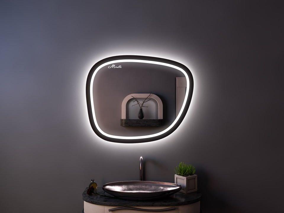 Эксклюзивное зеркало с подсветкой необычной формы Scale Plus