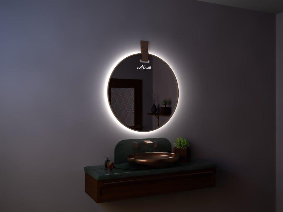 Зеркало с подсветкой и ремнем Angelica Extra