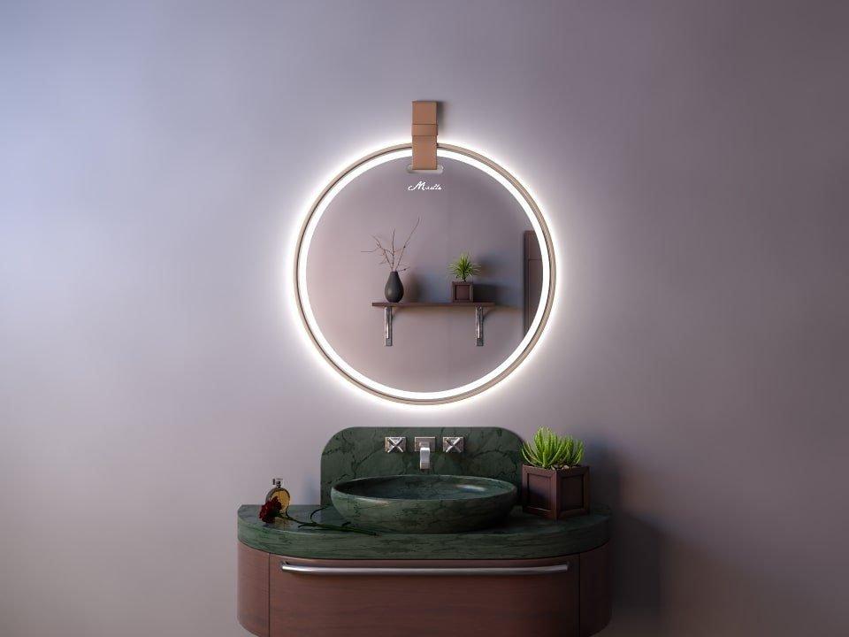 Зеркало с подсветкой и ремнем Angelica Plus