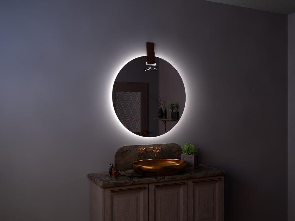 Зеркало с подсветкой и ремнем Tiara Extra
