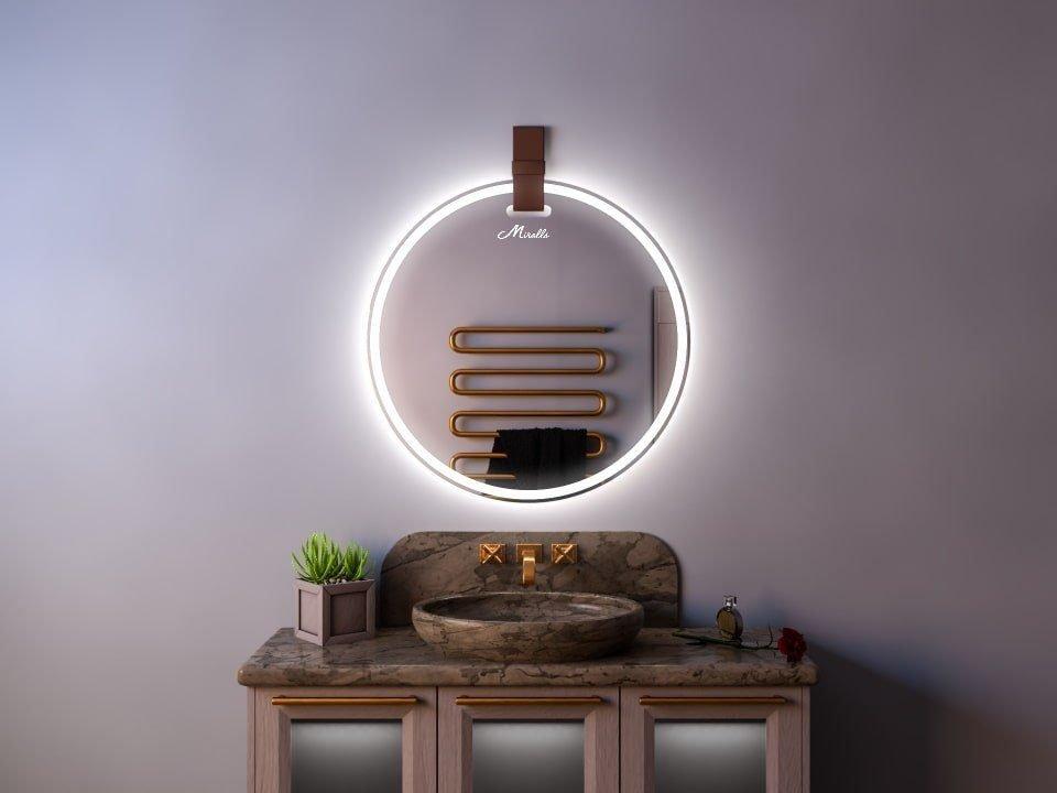 Зеркало с подсветкой и ремнем Tiara Plus
