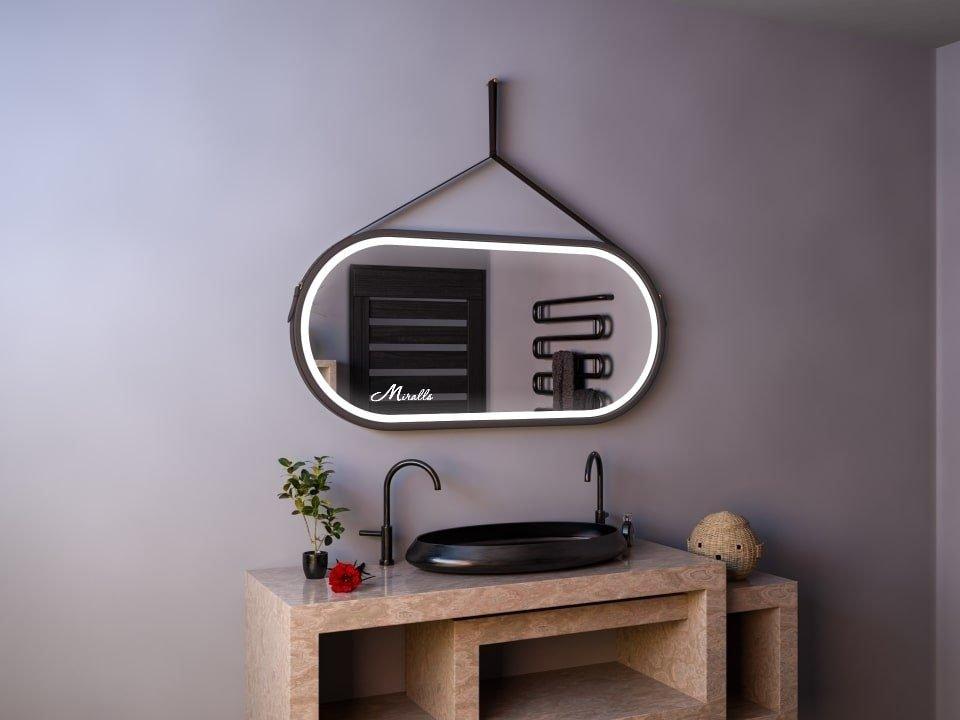 Эксклюзивное зеркало на ременном подвесе с подсветкой Fantasy Plus