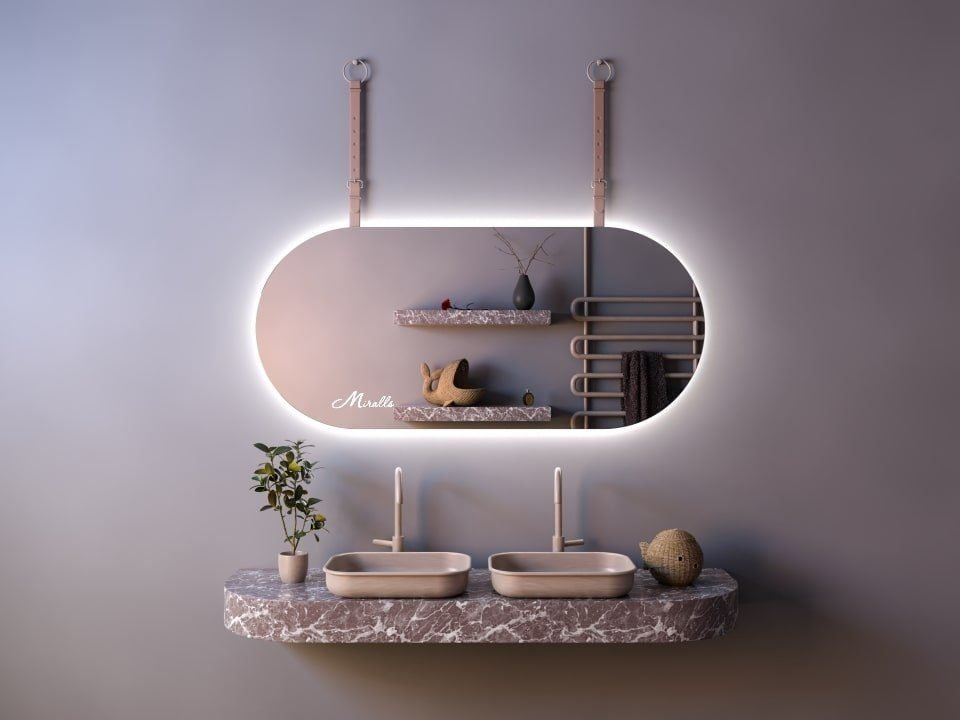Эксклюзивное зеркало с подсветкой и ремнём Camelot Extra