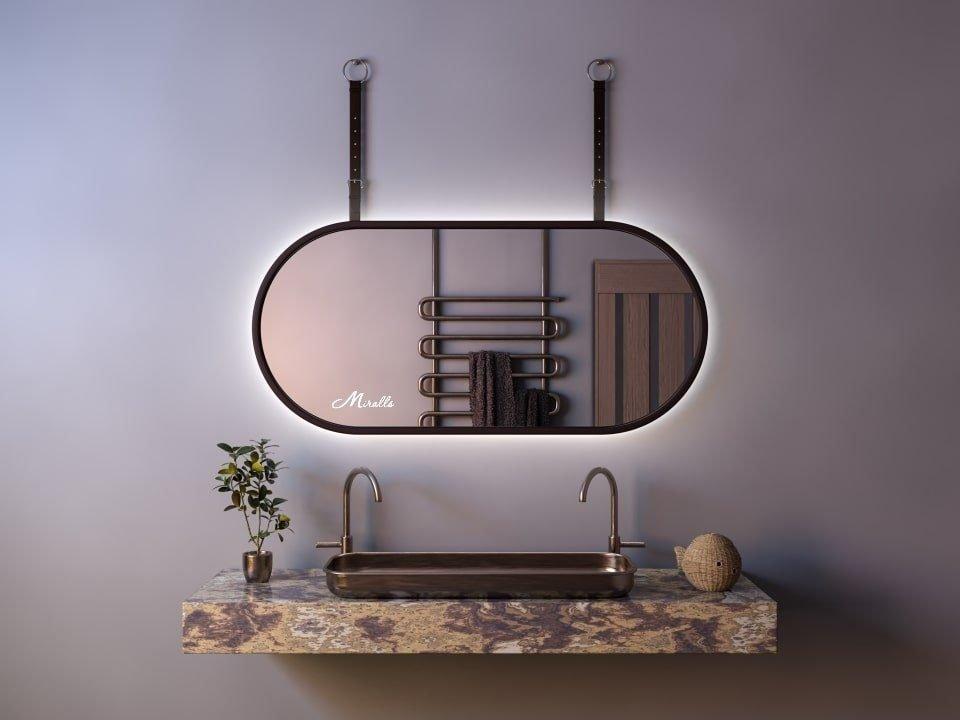 Эксклюзивное зеркало с подсветкой и ремнём Duet Extra