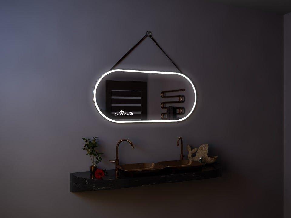 Эксклюзивное зеркало с подсветкой и ремнём Glen Plus