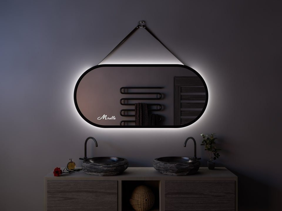 Эксклюзивное зеркало с подсветкой и ремнём Harmony Extra