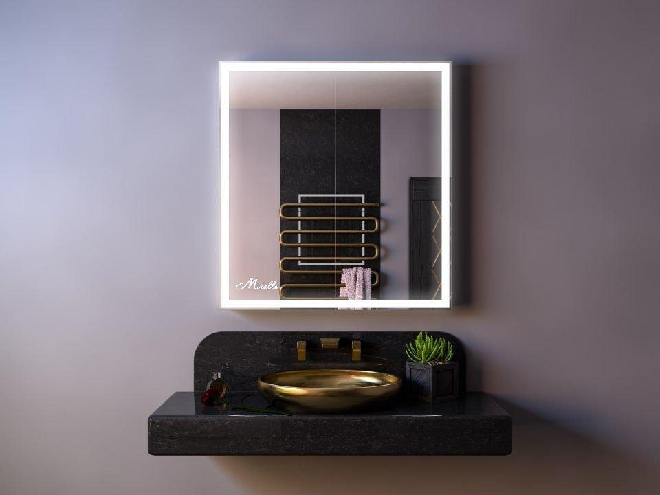 Зеркальный шкаф с подсветкой Aksent