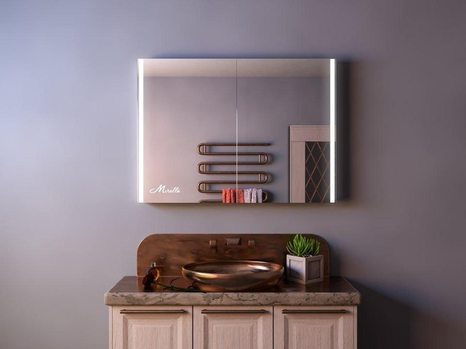Зеркальный шкаф с подсветкой Pegas