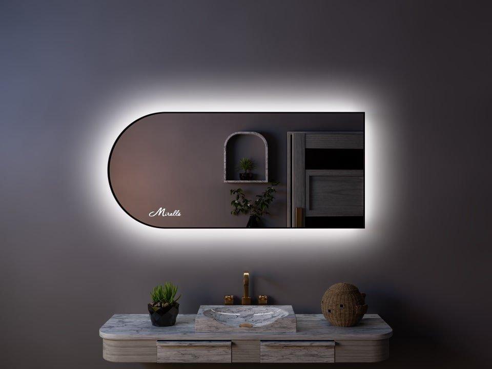 Зеркало в раме с подсветкой Marta Extra
