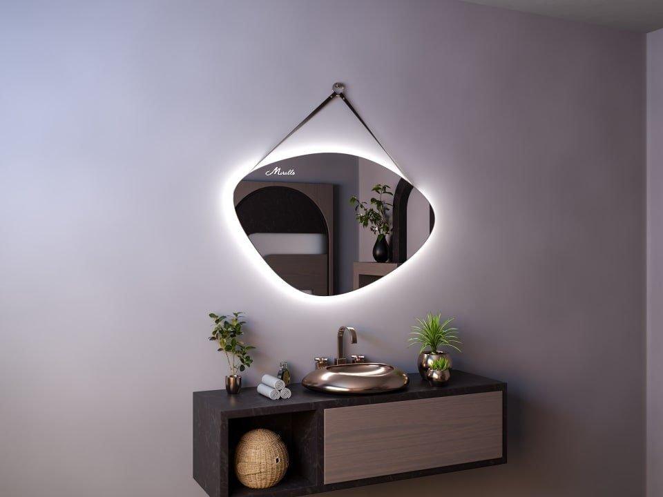 Эксклюзивное зеркало на ременном подвесе Allure Extra