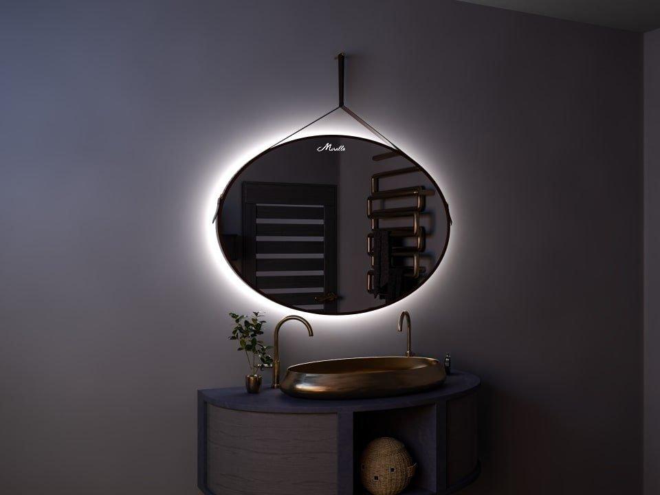 Эксклюзивное зеркало с ремнем и подсветкой Olympia Extra