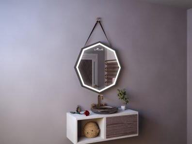 Зеркало с подсветкой и ремнем Candy Plus
