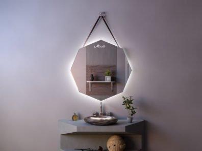 Эксклюзивное зеркало на ремне с подсветкой Juliet Extra