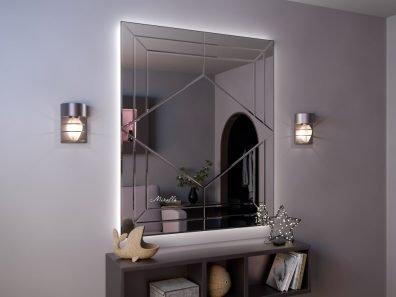 Эксклюзивное зеркало с подсветкой и фацетом Luciano Extra