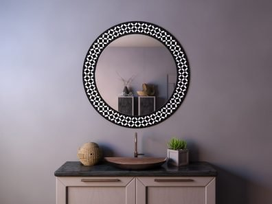Зеркало без подсветки в раме из мозаики Dafna