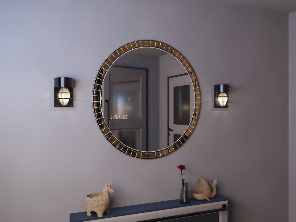 круглое зеркало в мозаичной раме - Paloma