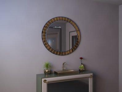 овальное зеркало в мозаичной раме - Palmira