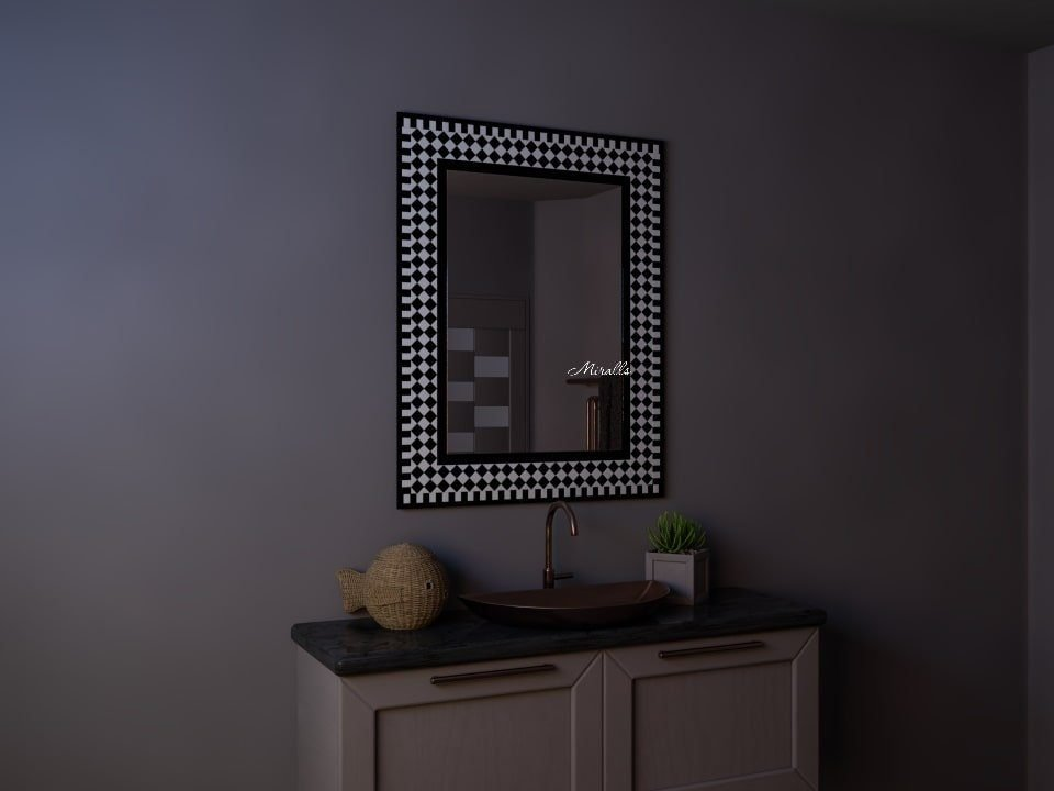 прямоугольное зеркало в мозаичной раме - Liberty