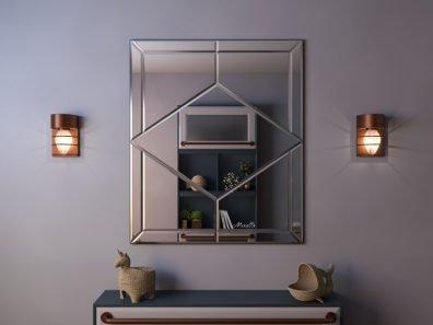 Зеркальное панно из тринадцати элементов Fredo