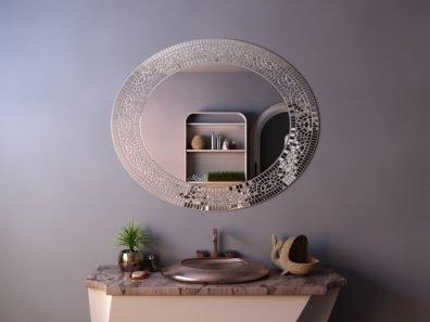 зеркало в раме из мозаики