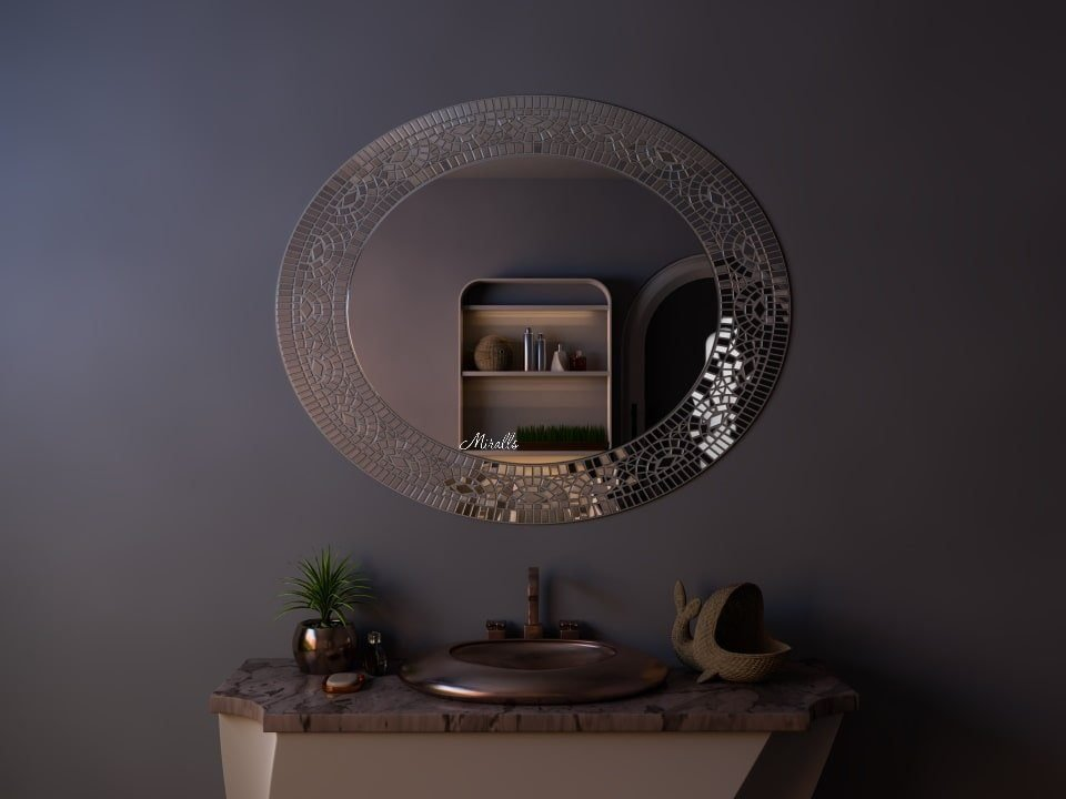 зеркало в раме из мозаики Apex