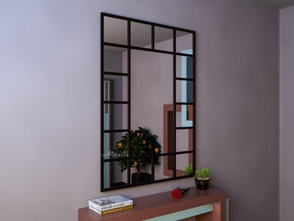 необычное прямоугольное зеркало без подсветки Boss