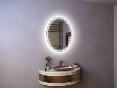 овальное зеркало с художественной подсветкой Cleopatra