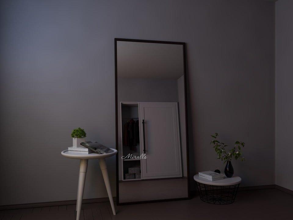 прямоугольное зеркало без подсветки напольное Ray