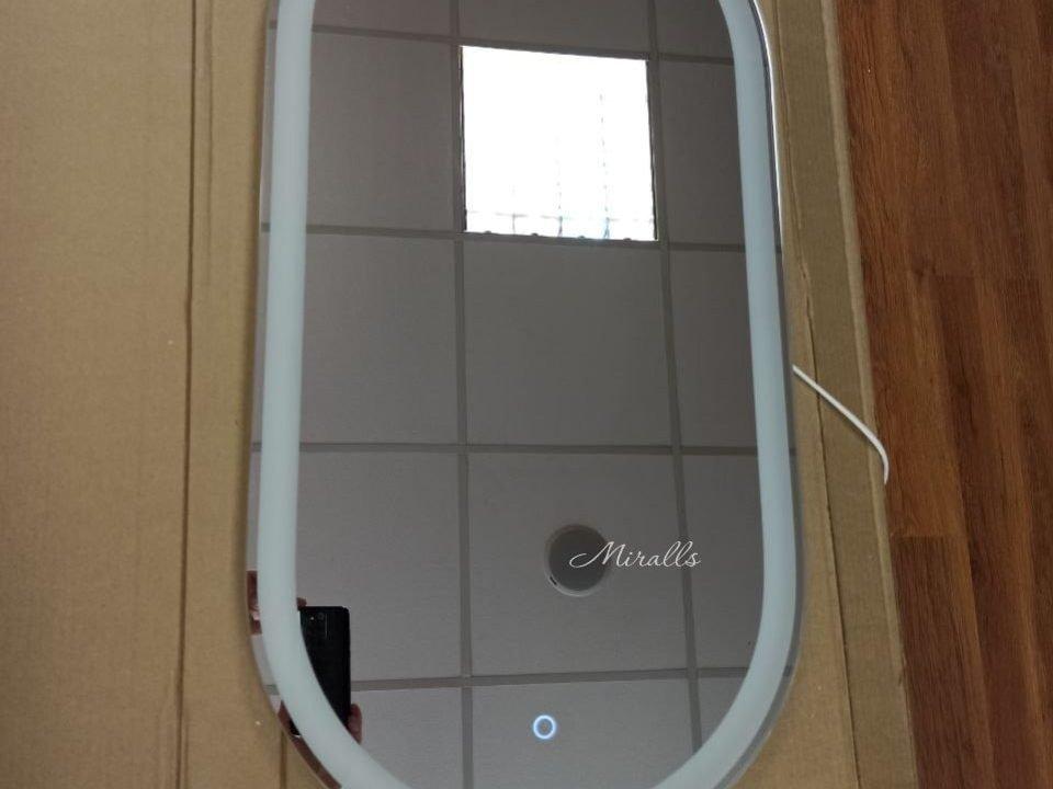 Прямоугольное зеркало с подсветкой размер 40 см на 80 см Aura