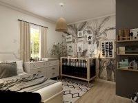 Спальня с детской кроватью. Фотография для статьи Зеркало для детской комнаты
