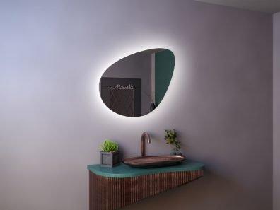 фигурное зеркало Renata Extra с интерьерной подсветкой