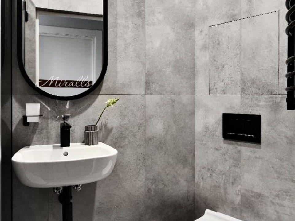 капсульное зеркало Berta в ванной комнате