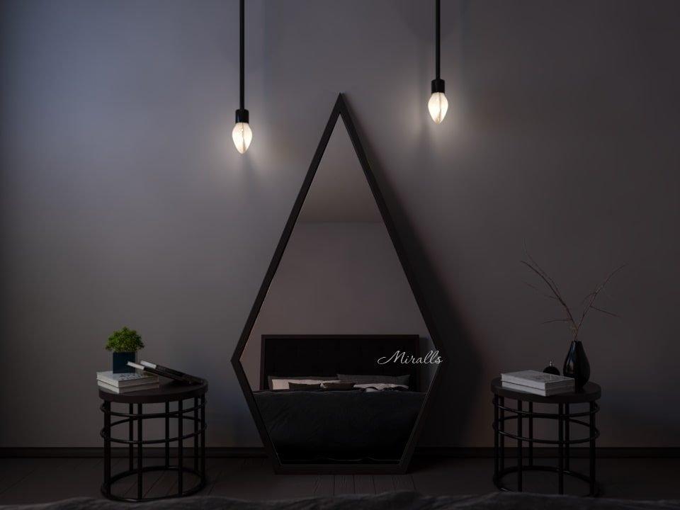 напольное зеркало Goliaf многоугольной формы без подсветки
