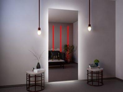 прямоугольное зеркало Basic XL с подсветкой