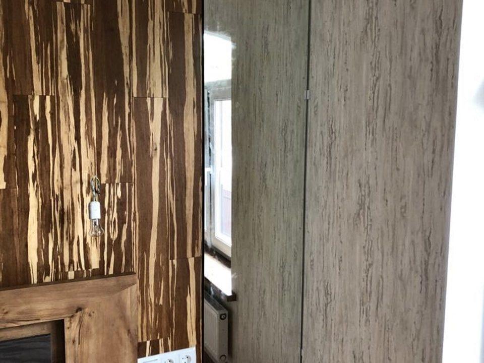 прямоугольное зеркало Brams в спальне