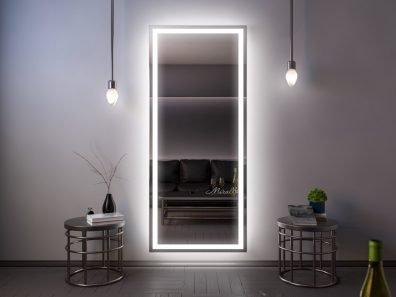 прямоугольное зеркало Edging XL с интерьерной и фронтальной подсветкой