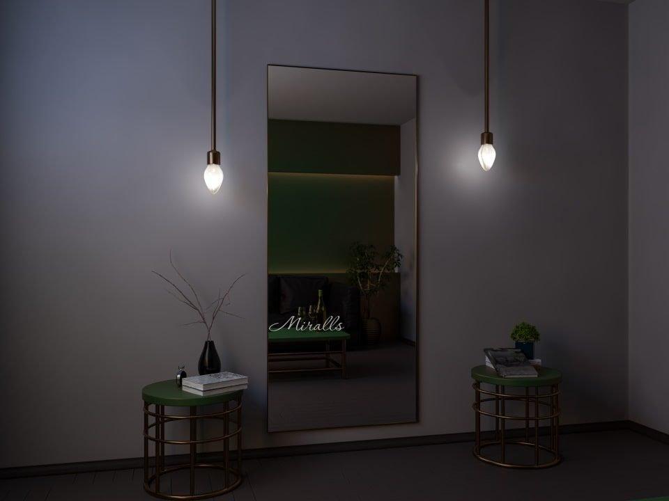 прямоугольное зеркало Galla XL в металлической раме без подсветки