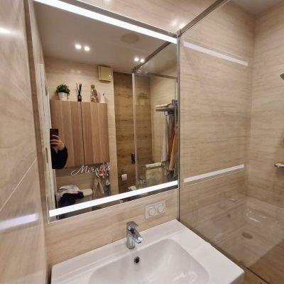 прямоугольное зеркало Nevada с фронтальной подсветкой в ванне
