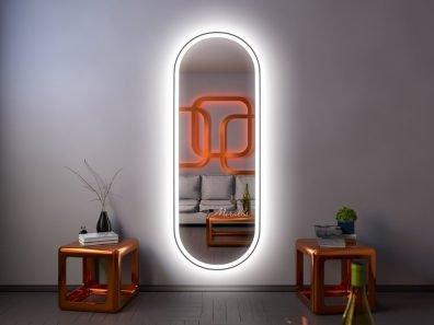 зеркало Aura XL с интерьерной и фронтальной подсветкой