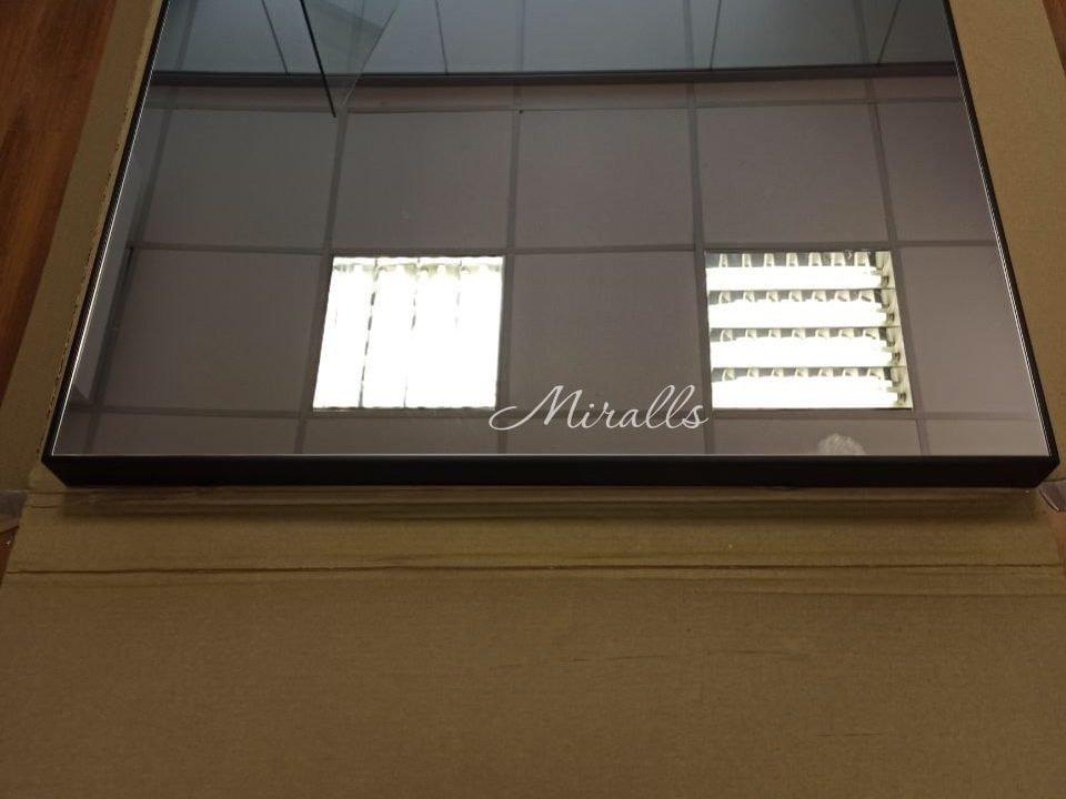 зеркало Brams без подсветки в черной раме МДФ