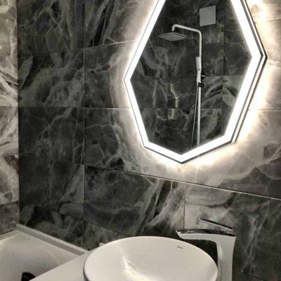 зеркало Crystal Plus с фронтальной и интерьерной подсветкой