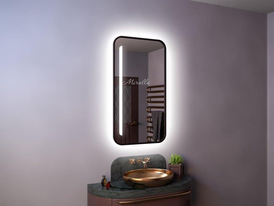 зеркало Hyperion с интерьерной и фронтальной подсветкой в раме МДФ