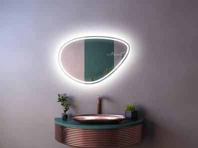 зеркало Megan Plus с интерьерной и фронтальной подсветкой