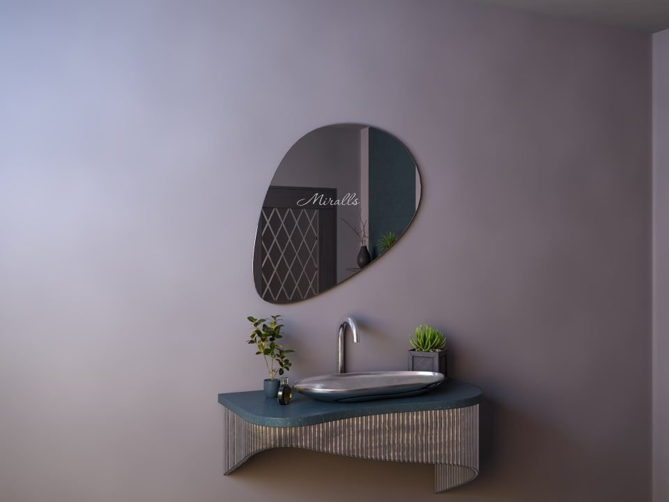 зеркало Megan необычной формы без подсветки