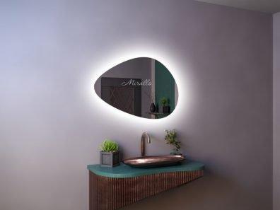 зеркало фигурной формы Megan Extra с интерьерной подсветкой