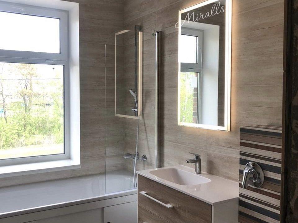 зеркало с подсветкой Modern в ванной комнате